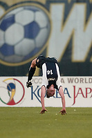 Wynne McIntosh of the New York Power does back flips after scoring her first goal during the Power's 3-2 loss to the carolina Courage at Mitchel Athletic Complex on June 26th.