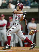 March 23, 2002: Carlos Quentin of the Stanford Cardinal in action against the USC Trojans at Dedeaux Field in Los Angeles,CA.  Photo by Larry Goren/Four Seam Images
