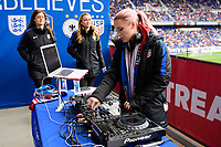 Harrison, NJ - Sunday March 04, 2018: Female Live Hosts, DJ Amy Robbins during a 2018 SheBelieves Cup match match between the women's national teams of the United States (USA) and France (FRA) at Red Bull Arena.