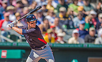 4 March 2013: Minnesota Twins outfielder Joe Benson in action during a Spring Training game against the St. Louis Cardinals at Roger Dean Stadium in Jupiter, Florida. The Twins shut out the Cardinals 7-0 in Grapefruit League play. Mandatory Credit: Ed Wolfstein Photo *** RAW (NEF) Image File Available ***