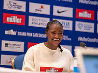 22nd May 2021; Hilton Hotel, Gateshead , England; Diamond League Muller Athletics Grand Prix Gateshead press conference; Dina Asher Smith answers questions from the press
