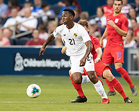 KANSAS CITY, KS - JUNE 26: Omar Browne #21 during a game between United States and Panama at Children's Mercy Park on June 26, 2019 in Kansas City, Kansas.