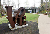 A major expansion at Crystal Bridges Museum of American Art in Bentonville will expand the size of the current museum by 50 percent. The museum's south entrance is seen here on Wednesday April 8 2021. Go to nwaonline.com/210408Daily/ to see more photos.<br />(NWA Democrat-Gazette/Flip Putthoff)