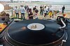 Free Rave Dance Party at West Beach Cafe, West Beach, Littlehampton, West Sussex during July 2017.<br />