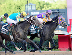 16 APR - Jockey Jon Court aboard Archarcharch (9) edges Corey Nakatani and Nehro (2) winning the 75th Running of THE ARKANSAS DERBY at Oaklawn Park in Hot Springs, Arkansas.