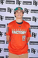 Brock Rudy (19) of Northgate High School in Walnut Creek, California during the Baseball Factory All-America Pre-Season Tournament, powered by Under Armour, on January 12, 2018 at Sloan Park Complex in Mesa, Arizona.  (Mike Janes/Four Seam Images)