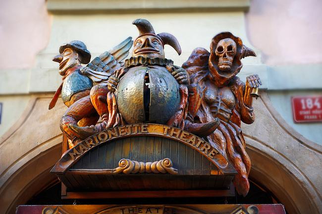 Puppet Theatre sign - Prague - Czech Republic