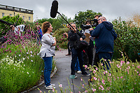 A general view during filming of the Antiques Roadshow at The National Botanic Garden of Wales in Carmarthenshire, Wales, UK. Friday 19 July 2019