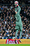 Goalkeeper Keylor Navas of Real Madrid saves the ball during the UEFA Champions League 2017-18 Round of 16 (1st leg) match between Real Madrid vs Paris Saint Germain at Estadio Santiago Bernabeu on February 14 2018 in Madrid, Spain. Photo by Diego Souto / Power Sport Images