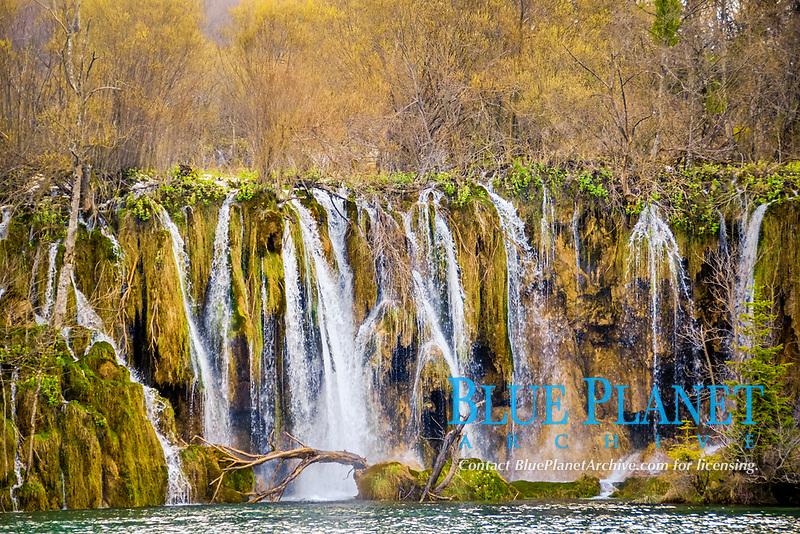 Waterfalls, Plitvice Jezera Lakes National Park, Natural World Heritage Site, Croatia