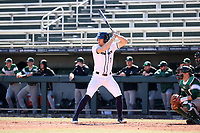 CARY, NC - FEBRUARY 23: Ryan Ford #7 of Penn State University waits for a pitch during a game between Wagner and Penn State at Coleman Field at USA Baseball National Training Complex on February 23, 2020 in Cary, North Carolina.
