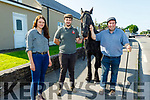 Lisa O'Sullivan, Jason Rogers and Kieran Goodwin with their horse at the Horse Fair in Camp on Friday.