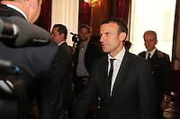 Emmanuel Macron - Reunion avec les acteurs economiques de la ville de Nice et de la rÈgion PACA apres l'attentat de Nice.