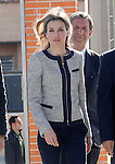 """Princess Letizia of Spain during the visit to the Public School """"Maria Moliner"""" to celebrate the beginning of the educational project 'Rare diseases go to school with Federito'.April 30,2014. (ALTERPHOTOS/Acero)"""