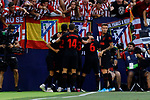 Atletico de Madrid's players celebrate goal during La Liga match between CD Leganes and Atletico de Madrid at Butarque Stadium in Madrid, Spain. August 25, 2019. (ALTERPHOTOS/A. Perez Meca)