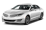 2016 Lincoln MKZ Hybrid 4 Door Sedan Angular Front stock photos of front three quarter view