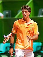 6-3-09,Argentina, Buenos Aires, Daviscup  Argentina-Netherlands,  Jesse Huta Galung smijt uit frustratie zijn racket weg