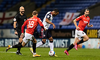 Bolton Wanderers' Nathan Delfouneso breaks<br /> <br /> Photographer Andrew Kearns/CameraSport<br /> <br /> The EFL Sky Bet League Two - Bolton Wanderers v Salford City - Friday 13th November 2020 - University of Bolton Stadium - Bolton<br /> <br /> World Copyright © 2020 CameraSport. All rights reserved. 43 Linden Ave. Countesthorpe. Leicester. England. LE8 5PG - Tel: +44 (0) 116 277 4147 - admin@camerasport.com - www.camerasport.com