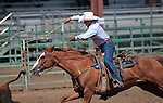 Nick Uhart competes in the calf roping event at the Minden Ranch Rodeo in Gardnerville, Nev., on Sunday, July 22, 2012..Photo by Cathleen Allison