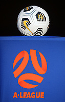 The matchball waits for kickoff during the A-League football match between Wellington Phoenix and Western United FC at Sky Stadium in Wellington, New Zealand on Saturday, 22 May 2021. Photo: Dave Lintott / lintottphoto.co.nz