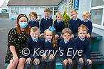 Moyvane NS: M/s O'Flaherty's junior infants at Moyvane NS on their first day at school.