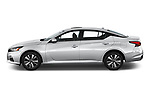 Car Driver side profile view of a 2020 Nissan Altima SV 4 Door Sedan Side View