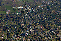 aerial overview photograph of Sebastopol, Sonoma County, California