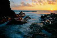Mouth of Oheo Gulch at sunrise<br /> Kipahulu Coastal Area<br /> Haleakala National Park<br /> Island of Maui,  Hawaii