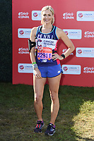 Jenni Falconer<br /> at the start of the 2018 London Marathon, Greenwich, London<br /> <br /> ©Ash Knotek  D3397  22/04/2018