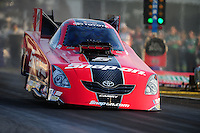 Apr. 29, 2011; Baytown, TX, USA: NHRA funny car driver Cruz Pedregon during qualifying for the Spring Nationals at Royal Purple Raceway. Mandatory Credit: Mark J. Rebilas-