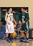 Nevada Gov. Brian Sandoval and his son James compete in the alumni game at the Wild West Shootout at Bishop Manogue High School in Reno, Nev., on Wednesday, Dec. 4, 2013. The Miners defeated the alumni 79-62.<br /> Photo by Cathleen Allison