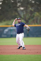 Evan Dickison (68), from Ashland, Kentucky, while playing for the Padres during the Baseball Factory Pirate City Christmas Camp & Tournament on December 30, 2017 at Pirate City in Bradenton, Florida.  (Mike Janes/Four Seam Images)