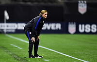 New Orleans, LA - Thursday October 19, 2017: Jill Ellis during an International friendly match between the Women's National teams of the United States (USA) and South Korea (KOR) at Mercedes Benz Superdome.