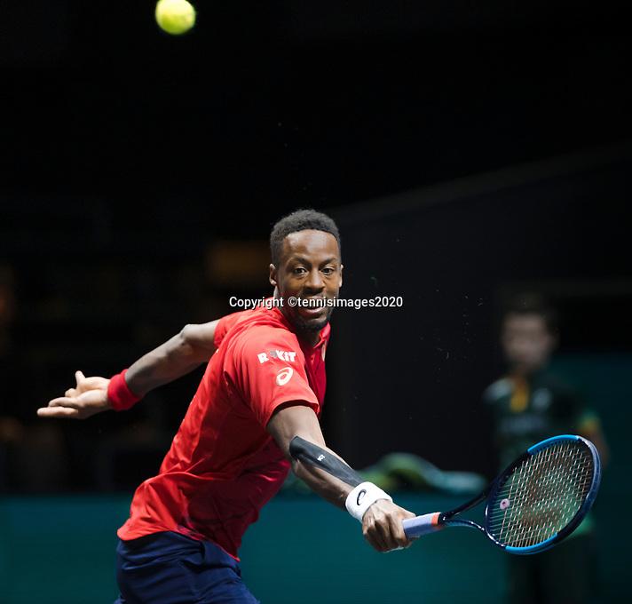 Rotterdam, The Netherlands, 15 Februari 2020, ABNAMRO World Tennis Tournament, Ahoy,<br /> Gaël Monfils (FRA).<br /> Photo: www.tennisimages.com