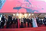 Montee des marches 17 mai 2017 ceremonie d ouverture<br /> <br /> Jessica Chastain, Will Smith, Pedro Almodovar
