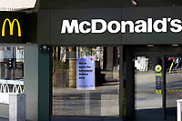Pictured: A general view of McDonalds in Swansea City Centre during the Covid-19 Coronavirus pandemic in Wales, UK, Swansea, Wales, UK. Monday 23 March 2020