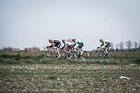 Jan WIllem van Schip (NED/Roompot Charles) trying to force an early breakaway...<br /> <br /> 82nd Gent – Wevelgem in Flanders Fields 2019 (1.UWT)<br /> Deinze – Wevelgem: 251,5km<br /> ©kramon