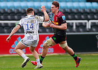 20th March 2021; Twickenham Stoop, London, England; English Premiership Rugby, Harlequins versus Gloucester; Harlequins, Gloucester; Tom Seabrook of Gloucester knocking take the ball out of the hands of Alex Dombrandt of Harlequins