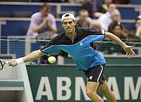 23-2-06, Netherlands, tennis, Rotterdam, ABNAMROWTT,  Alex Calatrava in his match against Daniele Bracciali
