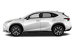 Car Driver side profile view of a 2017 Lexus NX 200t-F-Sport 5 Door SUV Side View