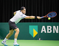 Rotterdam, Netherlands, 9 februari, 2019, Ahoy, Tennis, ABNAMROWTT, Supermatch semifinal: DENIS KUDLA (USA)<br /> Photo: Henk Koster/tennisimages.com