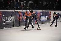 SPEEDSKATING: DORDRECHT: 06-03-2021, ISU World Short Track Speedskating Championships, SF 5000m Relay, Sjinkie Knegt (NED), Daan Breeuwsma (NED), ©photo Martin de Jong