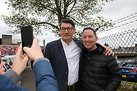 Luton Town manager Mick Harford - Luton Town players and staff celebrate promotion in front of supporters during an open top bus journey through the streets of Luton displaying the trophy afte gaining promotion to the EFL Championship from League One on 5 May 2019. Photo by David Horn.