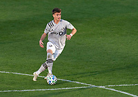 WASHINGTON, DC - NOVEMBER 8: Amar Sejdic #14 of the Montreal Impact dribbles during a game between Montreal Impact and D.C. United at Audi Field on November 8, 2020 in Washington, DC.