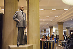 Harrods Department store. Statue of Mr Al Fayed chairman of Harrods London Uk 2009.