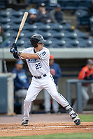 West Michigan Whitecaps outfielder Ulrich Bojarski (25) at bat against the Bowling Green Hot Rods on May 21, 2019 at Fifth Third Ballpark in Grand Rapids, Michigan. The Whitecaps defeated the Hot Rods 4-3.  (Andrew Woolley/Four Seam Images)