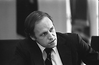 This photograph depicts Chief of Staff Dick Cheney during a meeting following the assassinations of Ambassador Francis E. Meloy, Jr. and Economic Counselor Robert O. Waring in Beirut, Lebanon. 17 June 1976