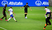 LOS ANGELES, CA - SEPTEMBER 02: Diego Rossi #9 of LAFC moves with the ball during a game between San Jose Earthquakes and Los Angeles FC at Banc of California stadium on September 02, 2020 in Los Angeles, California.