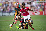 Germany vs Tonga during their Pool E match as part of the HSBC Hong Kong Rugby Sevens 2017 on 08 April 2017 in Hong Kong Stadium, Hong Kong, China. Photo by Weixiang Lim / Power Sport Images