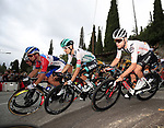 The peloton including Emanuel Buchmann (GER) Bora-Hansgrohe and Marc Hirschi (SUI) Team Sunweb during Stage 1 of Tour de France 2020, running 156km from Nice Moyen Pays to Nice, France. 29th August 2020.<br /> Picture: Bora-Hansgrohe/BettiniPhoto | Cyclefile<br /> All photos usage must carry mandatory copyright credit (© Cyclefile | Bora-Hansgrohe/BettiniPhoto)